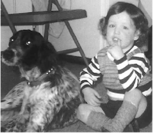 Johnny and his best friend, Matty, the Irish-English Setter.