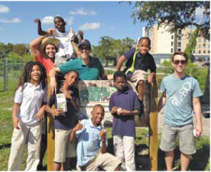 """Edible Peace Patch """"From Farm to Plate"""" enthusiastically educates children about nutrition."""