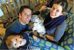 The Lemieux family: Mark and Sara, Sienna and baby Sloane