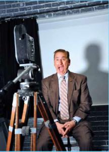Mayor Kriseman musing for the Warhol camera