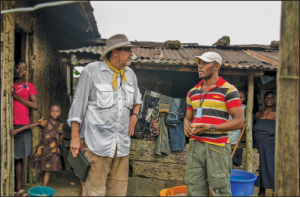 Curtis consults with Nigerian Production Designer