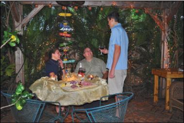 Neighbors enjoying a backyard gathering