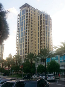 The Florencia was the second condo to open on Beach Drive after the Vinoy Restoration. It is located at 100 Beach, has 51 units, 21 stories, and cost $30 million to build (hard costs).