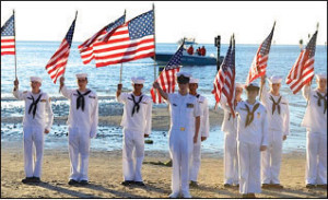 Honor Guard during the opening ceremony when they read the names of every SEAL killed since 9/11.