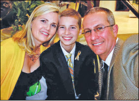 Cole and his parents Scott and Laura Eicher