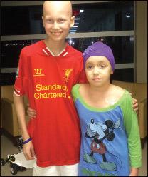 Cole with his friend Devyn Eich