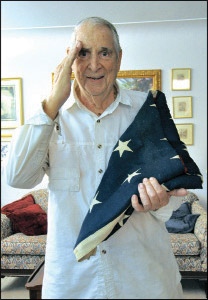 Judge O'Neil with his brothers flag