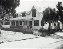 While in St. Petersburg in the mid 1920s, Johnny Torrio acquired this building on 22nd Avenue South.  In 1927, he sold (or perhaps donated) it to the American Legion for the Crippled Children's Hospital, forerunner of today's All Children's Hospital. For several years Torrio resided at another nearby home at the corner of  22nd Avenue and 23rd Street South. Image 1929.  Courtesy of the St. Petersburg Museum of History.