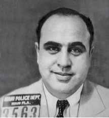 Mug shot of Al Capone taken in Miami, Florida