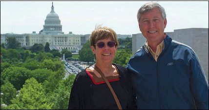 Will and his wife Kathy on trip to Washington