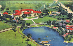 Capone's partner, Johnny Torrio, patronized the Jungle Hotel and the nearby Gangplank Night Club in West St. Petersburg. The Jungle Hotel is a city landmark and now serves as the Admiral Farragut Academy.
