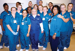 Judy Prime-Sayles with her student practical nurses and other PTEC teachers