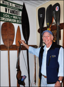 George's paddle collection