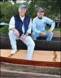 With seasoned boat-builder and ONE resident Floyd Bonnell