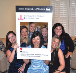 JLSP members Mary Reed, Jenny Reese, Erin Lohmiller, Gentry Adams, Chloe Firebaugh, Wendy Baker, and Brynne Johnson