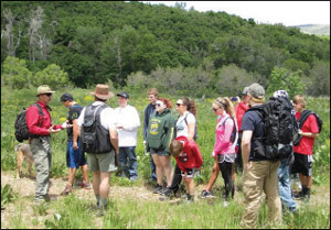WOLF campers in Outdoor Leadership Seminar