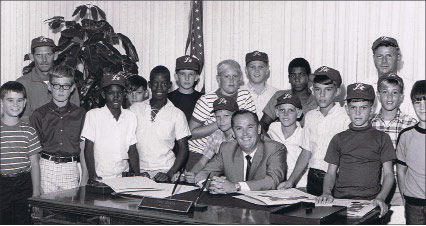 Mayor Don Jones with youth group, circa 1967.