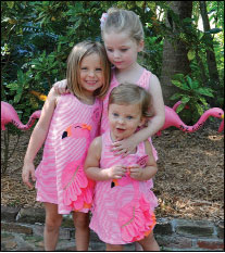 Marion and Brian Mitchell named birds after their granddaughters Hadley and Emerson, pictured with cousin Lily.