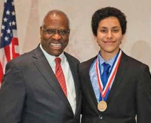 Tarek with Supreme Court Justice Clarence Thomas