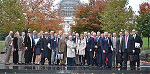 Travis with members of the US House of Representatives and the US Senate