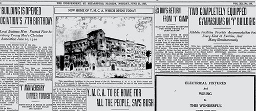 The Evening Independent's coverage of the YMCA Opening