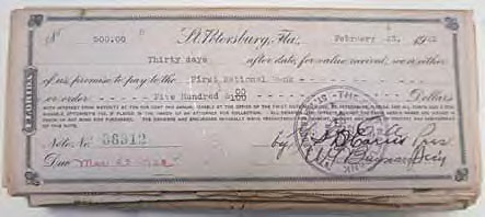 Promissory note to fund the construction of the YMCA