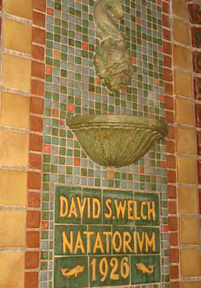 Pool named after David S. Welch, located in natatorium