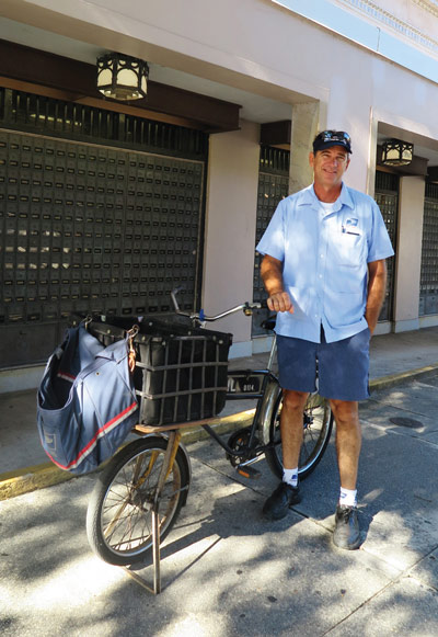 Chris Hubble is a 23-year veteran of the bicycle fleet.