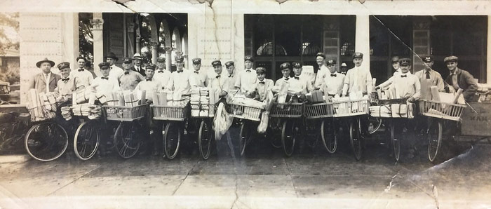 Historic photo of St. Pete mail carriers.