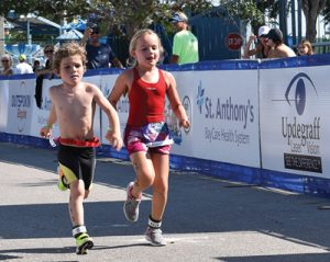 Children compete in the Meek & Mighty competition