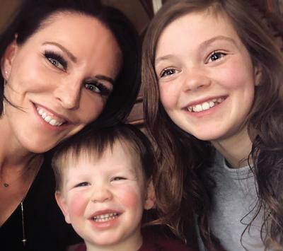 Loyd with her nephew and niece