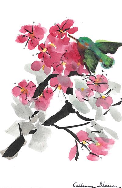 Cathy's Chinese brushstroke art