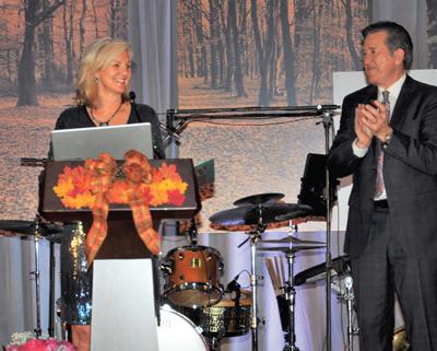 Patsy Stills with former news anchor Al Ruechel