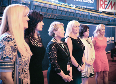 Heart Gallery founders are honored at a Tampa Bay Rays game