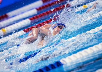 Gold medal swimmer Bobby Finke