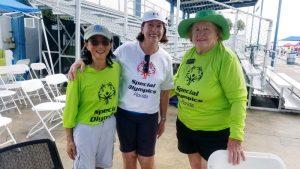 Civitans Lori Clapp, MaryAnn Fisher, and Jeanne Davison at the Special Olympics held at North Shore Aquatics Complex